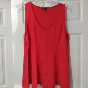 Torrid Red Peplum Top Size 2